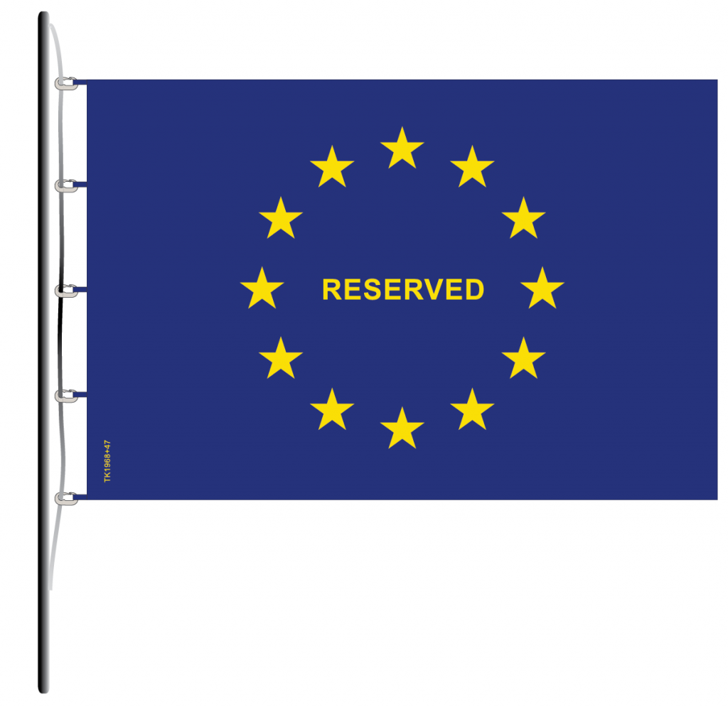 Flag of Europe Reserved TK1968+