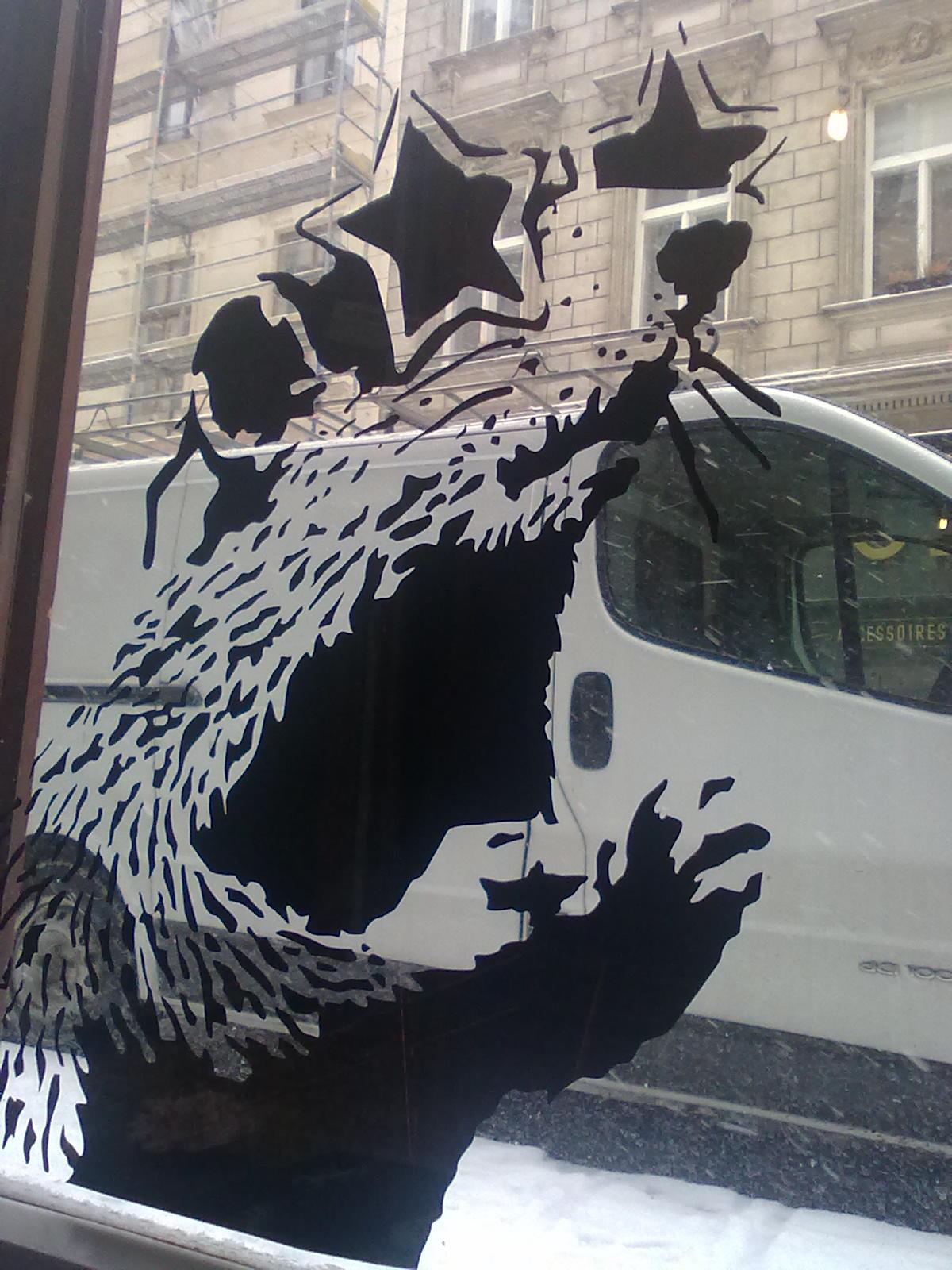 how to remove a banksy stencil graffiti