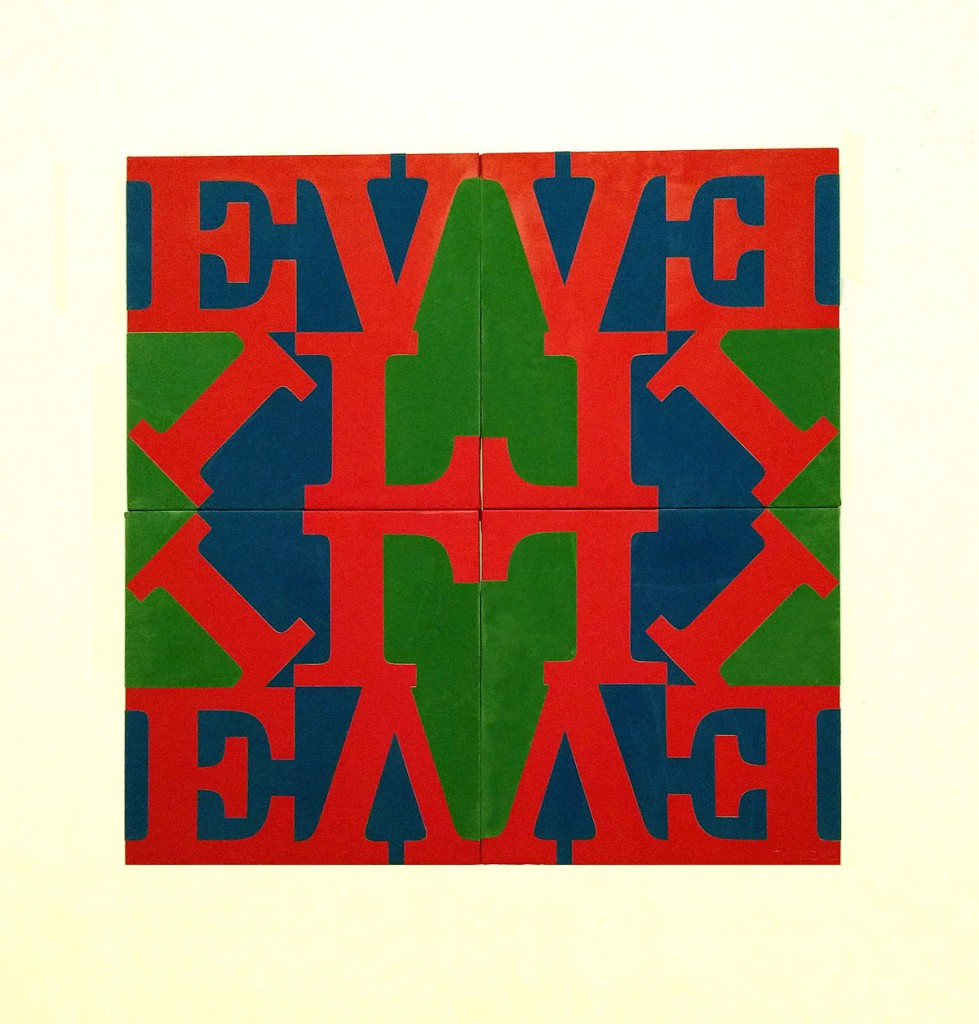 Robert Indiana put some evil in love